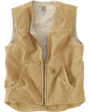 Carhartt Rugged Work Vest, Brown, hi-res