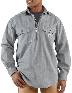 Carhartt Hickory Striped Work Shirt - Big & Tall, Stripe, hi-res