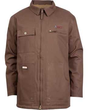 Rocky Men's WorkSmart Waterproof Chore Coat, Brown, hi-res