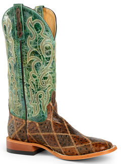 Horse Power Men's Patchwork Western Boots - Square Toe, , hi-res
