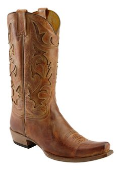 Stetson Crackle Inlay Cowboy Boots - Snip Toe, , hi-res