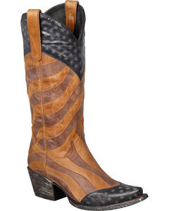 Lane Faded Glory Cowgirl Boots - Snip Toe, , hi-res