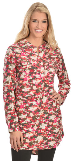 Red Ranch Pink Camo Tunic, , hi-res