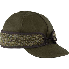 Stormy Kromer Olive The Original with Harris Tweed Cap , Olive, hi-res
