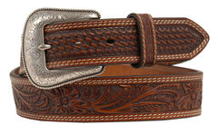 Nocona Embossed Oval Concho Belt, , hi-res