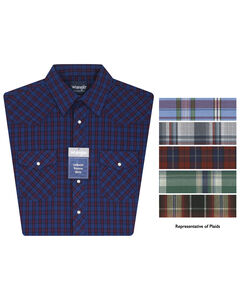 Wrangler Short Sleeve Assorted Stripe or Plaid Western Shirts, , hi-res