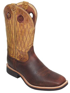Twisted X Top Hand Cowboy Boots - Square Toe, Copper, hi-res
