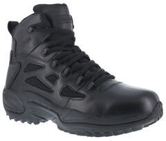 "Reebok Men's Stealth 6"" Lace-Up Water Resistant Side Zip Work Boots, , hi-res"