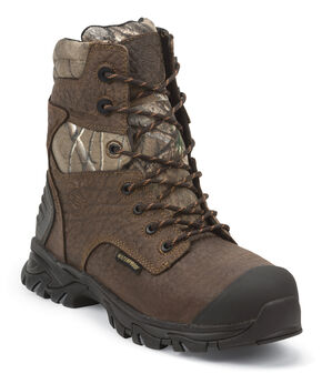 Justin Men's Work Tek Outdoor Insulated Boots - Round Toe, Brown, hi-res
