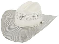 Larry Mahan Men's 10X Grey Cinch Straw Cowboy Hat, , hi-res