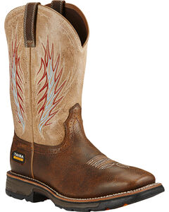 Ariat Rustic Stone Workhog Mesteno II Cowboy Work Boots - Composite Toe , , hi-res