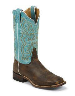 Tony Lama Americana Lavender Cowgirl Boots - Square Toe, , hi-res