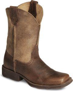 Ariat Boys' Earth Rambler Cowboy Boot - Square Toe, , hi-res