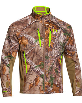 Under Armour Men's Realtree Scent Control Softershell Jacket, Camouflage, hi-res