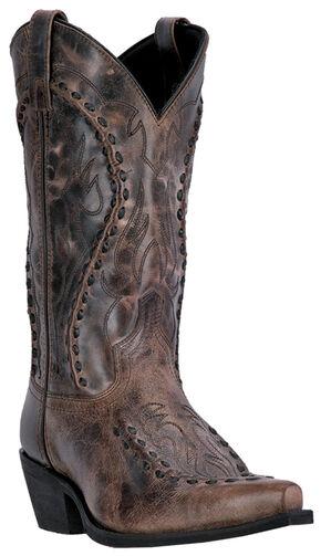Laredo Men's Laramie Western Boots - Snip Toe , Med Brown, hi-res