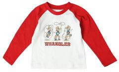 Wrangler All Around Baby Toddler Boys' Lasso Cowboy Long Sleeve Tee, , hi-res