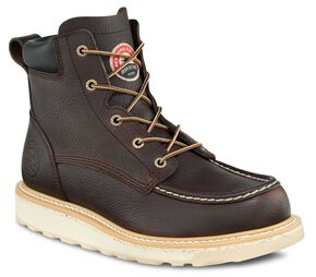 "Red Wing Irish Setter Ashby Wedge 6"" Lace-Up Work Boots - Aluminum Safety Toe, Brown, hi-res"