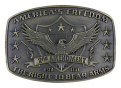 Montana Silversmiths Second Amendment Heritage Attitude Belt Buckle, , hi-res