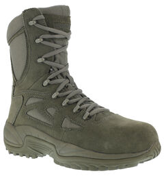 "Reebok Men's Stealth 8"" Lace-Up Side-Zip Work Boots - Composition Toe, , hi-res"