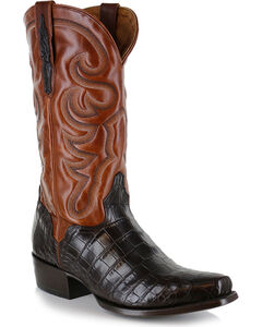 El Dorado Men's Alligator Belly Exotic Boots - Narrow Square Toe, , hi-res