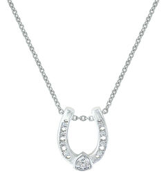 Montana Silversmiths Lucky Trillion Treasure Horseshoe Necklace, , hi-res