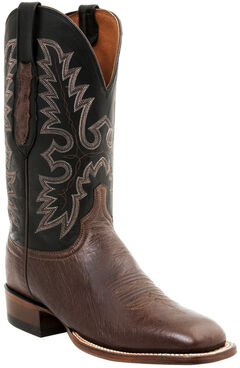 Lucchese Men's Smooth Ostrich Western Boots - Square Toe, , hi-res