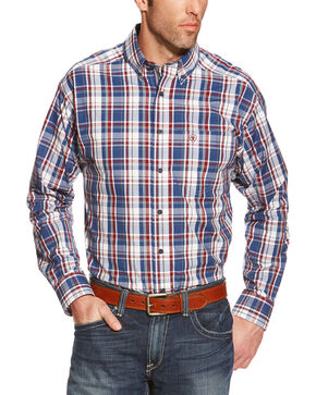 Ariat Patterson Plaid Performance Long Sleeve Shirt, Multi, hi-res