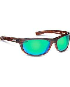 Hobie Men's Sea Green and Satin Brown Wood Grain Cruz Polarized Sunglasses  , , hi-res