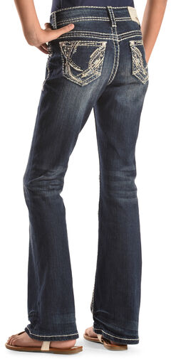 Grace in LA Girls' Abstract Bootcut Jeans , , hi-res