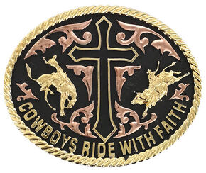 Cody James Men's Ride with Faith Belt Buckle, Multi, hi-res