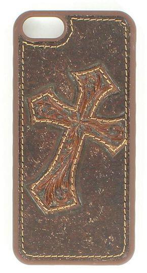 Nocona Diagonal Cross Leather iPhone 5 Phone Case, Brown, hi-res