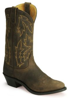 Old West Apache Leather Cowgirl Boots, , hi-res