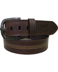 Berne Men's Brown Genuine Leather Belt , , hi-res