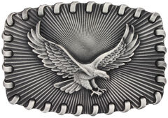 Montana Silversmiths Stitched Edge Radiating Golden Eagle Attitude Belt Buckle, , hi-res