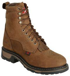 "Tony Lama Waterproof Cheyenne 8"" Lace-Up Work Boots - Steel Toe, , hi-res"