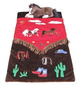 Kids' Cowboy Sleeping Bag, Brown, hi-res
