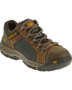 Caterpillar Men's Light Brown Convex Lo Work Shoes - Steel Toe , , hi-res