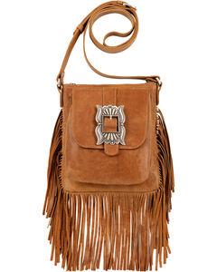 American West Eagle Golden Tan Crossbody Bag , , hi-res