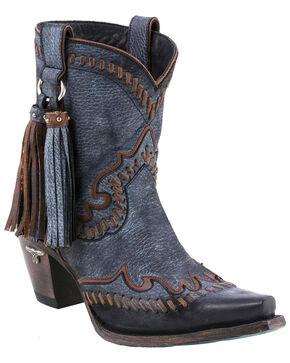 Lane Women's Hoedown Short Boots - Snip Toe , Black, hi-res