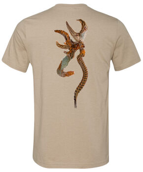 Browning Men's Tan Pheasant Buckmark Short Sleeve Tee, Tan, hi-res