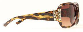 Blazin Roxx Rhinestone Embellished Leopard Print Sunglasses, Leopard, hi-res
