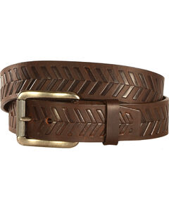 Chippewa Men's Dark Brown Farming Boy Leather Belt , , hi-res
