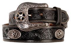 Justin Ranch Star Concho Belt, , hi-res