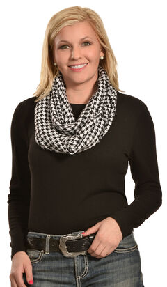 Rapti Women's Cashmere Houndstooth Infinity Scarf , , hi-res