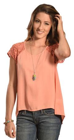 Petrol Women's Rose Lace Short Sleeve Top, , hi-res