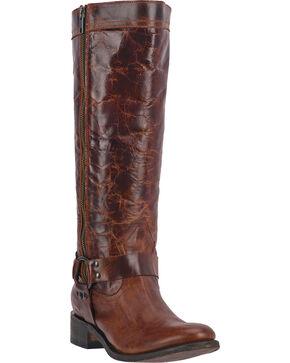 Dan Post Hot Ticket Women's Harness Tall Boots - Round Toe, Rust, hi-res