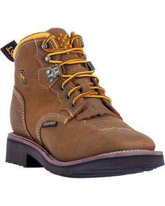 Dan Post Women's Tan Mesa Waterproof Work Boots - Soft Square Toe  , , hi-res