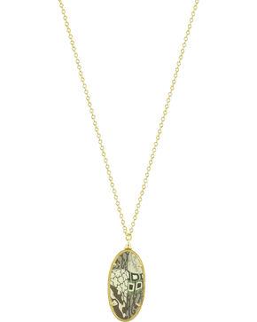 Jilzarah Latte Gold Frame Pendant Necklace, Latte, hi-res
