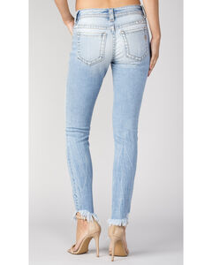 Miss Me Women's Frayed-Hem Exposed Button Jeans - Skinny , , hi-res