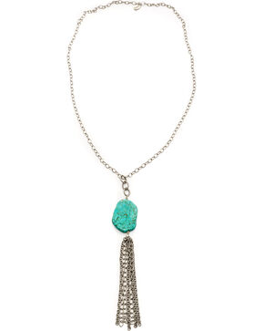 Julio Designs Brickell Tassel Necklace, Silver, hi-res